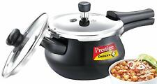 Prestige Deluxe Duo Plus Induction Base Aluminum Pressure Cooker, 3.3L, Black