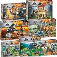 New Jurassic World Dinosaur Set With Lepining Model Building Blocks Bricks Toys
