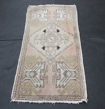 Decorative Muted Tone rug,Turkish Oushak Rug,area small rug,vintage carpets