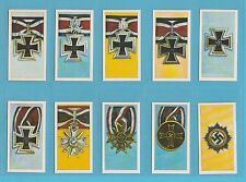 MILITARY - TONY OLIVER - RARE SET OF 50 GERMAN ORDERS & DECORATIONS CARDS - 1963
