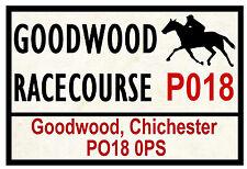 HORSE RACING ROAD SIGNS (GOODWOOD) - FUN SOUVENIR NOVELTY FRIDGE MAGNET - GIFTS