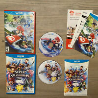 Nintendo Wii U Mario Kart 8 & Super Smash Bros. Game Lot Complete TESTED & WORK!