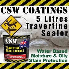 5L Travertine Sealer - Moisture & Oily Stain Protection - Non Slip - Water Based