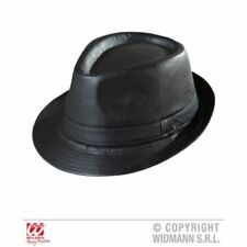 Cappelli e copricapi nero in pelle per carnevale e teatro, in italia