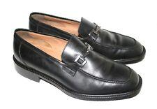 Men's FLORSHEIM IMPERIAL Black Dress Horsebit Shoes 92293 Sz 9.5 D Made in Italy