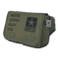 Olive Green United States Army Military Messenger Heavyweight Shoulder Bag Bags