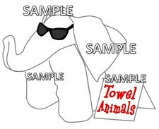 Disney Cruise Towel Animals Elephant Scrapbook Paper Die Cut Piece