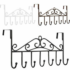 Over The Door 7 Hanger Hook Holder Clothes Coat Towel Hat Metal Hooks Rack Decor
