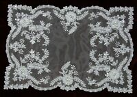 Embroidery Handmade Beaded Placemats Table Runner White Victorian Wedding Bridal