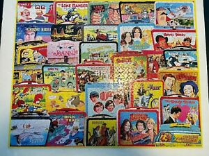 White Mountain Puzzle TV LUNCH BOXES 1000 piece Complete Clean Used Once #1471