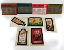 Wacky Packages: 5 stickers + 27 puzzle checklist cards (1973-1974) Topps