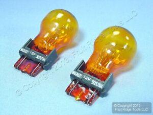 2 New Wagner BP3057NA 12V Amber Turning Signal Lamp Parking Light Bulbs