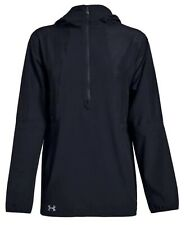 Under Armour Women's Jacket Size Medium Black Squad Woven 1/2 Zip - NEW