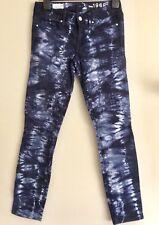 GAP 1969 Ladies Skinny Jeans Size 24 28W Low Rise Tie Dye Skinny Leg EC
