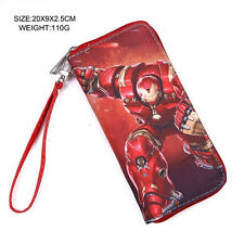 NEW - Movie DC Comic Red Gold Iron Man Red Large Zipper Enclosed Wallet Purse