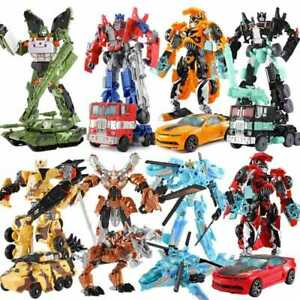 Transformation Robot Car Action toys Plastic Toy for boy gift Children Education