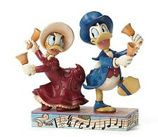 Disney Traditions Chiming In Christmas Ornament Daisy & Donald Duck Figurine