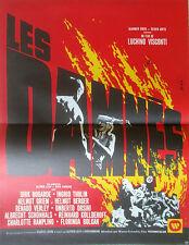 Affiche 40x60cm LES DAMNES 1969 Visconti - Dirk Bogarde, Ingrid Thulin RES NEUVE