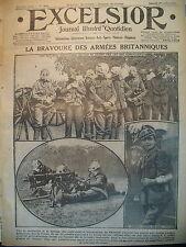 WW1 N° 2083 ARTILLERIE BRITANNIQUE MASQUES FRONT RUSSE GENERAUX EXCELSIOR 1916