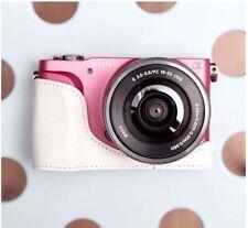 CIESTA Leather Camera Body Case Cover Body Jacket For Sony NEX-3N - White