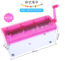 Mini A4  Paper Shredder Manual Paper Cutter Shredder Tabletop Shredder Pink