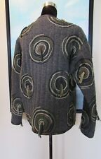 Koos Van Den Akker Gray Wool Circle Coat Fiber Art to Wear Sz M