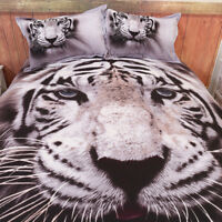 Tiger Animal Duvet Doona Quilt Cover Set Single/Queen/Double Size Bed Pillowcase