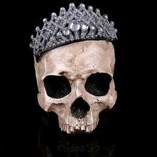 New Human Skull Replica Resin Model Medical Lifesize Crown skull Halloween gift