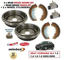 REAR BRAKE DRUMS SHOES CYLINDERS for SEAT CORDOBA 6L2 1.2 1.4 1.6 1.9 2002-2009