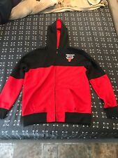 NBA Basketball Mens Chicago Bulls Jacket Hoody Red Large