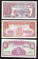 1948-62 Great Britain UK Armed Forces uncirculated 1 pound P-M22 M29 M36