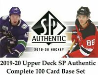 2019-20 Upper Deck SP Authentic complete base card set #'s 1-100