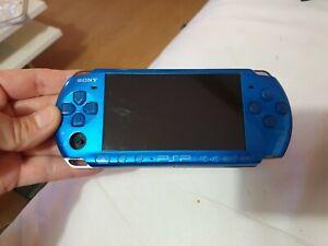Console sony playstation psp 3004 bleu avec  batterie neuve joystick manquant