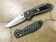 Scales for Benchmade 556 Griptilian Mini (Black Micarta) (Knife Not Included)