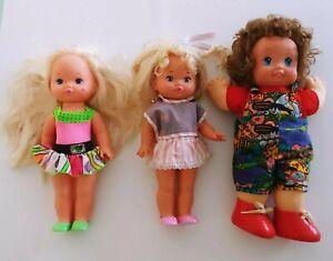 VTG Mattel Lil' Miss Doll 1988-89 Lil Miss Doll Rainbow Hair Magic Nursery Lot 3