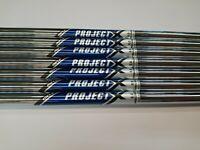 """7 X Project X 6.0 Stiff Steel Iron Shaft 40.5"""" 0.370 New 24HR 🚚 /PX40"""