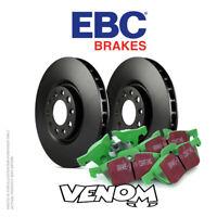 EBC Rear Brake Kit Discs & Pads for Toyota Auris 1.6 (ZRE185) 2012-