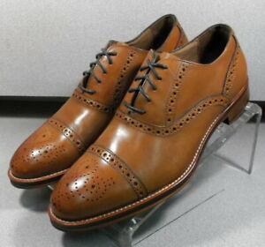 208682 SP50 Men's Shoes Size 9 M Tan Leather Lace Up Johnston & Murphy