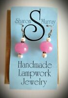 Sharon Murray Hand-crafted Glass Earrings *New with Tag*