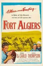 FORT ALGIERS Movie POSTER 27x40 C Yvonne De Carlo Carlos Thompson Raymond Burr