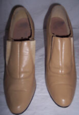 Vintage Norman Kaplan Las Vegas Heels Beige w/ElasticTongue Women Size 8.5N