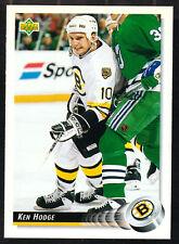 Boston Bruins Ken Hodge 1992 Upper Deck Hockey Card 254