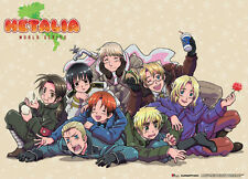 Great Eastern GE-5915 Hetalia World Series Group Scroll Fabric Poster w/ Rods