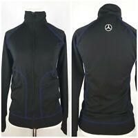 Mercedes-Benz USA Collection Women's  Zip up Jacket XS Thumb Holes Black EUC