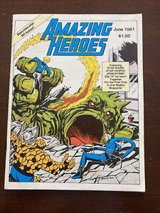 Amazing Heroes #1 First Printing Original 1981 Comic Book Fantastic Four Homage