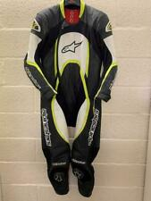 Alpinestars Orbiter One Piece Leather Suit Black White Flo Yellow EU 58 UK 48