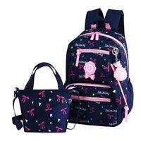 Floral printing Girls Kids Backpack Satchel Rucksack Shoulders School Bag Sets