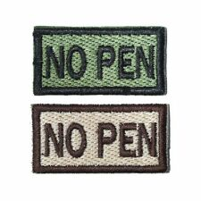 No Penicillin Self-Adhesive Blood Patch in Olive and Tan 1x2in