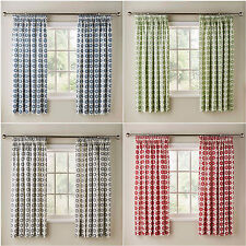 FLORAL PRINT COTTON PENCIL PLEAT NEW KITCHEN CURTAINS WITH OPTIONAL ACCESSORIES