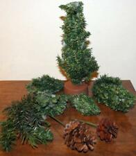 Large Lot of Pine Trees & Pine Cones Christmas Village Decor Accessories